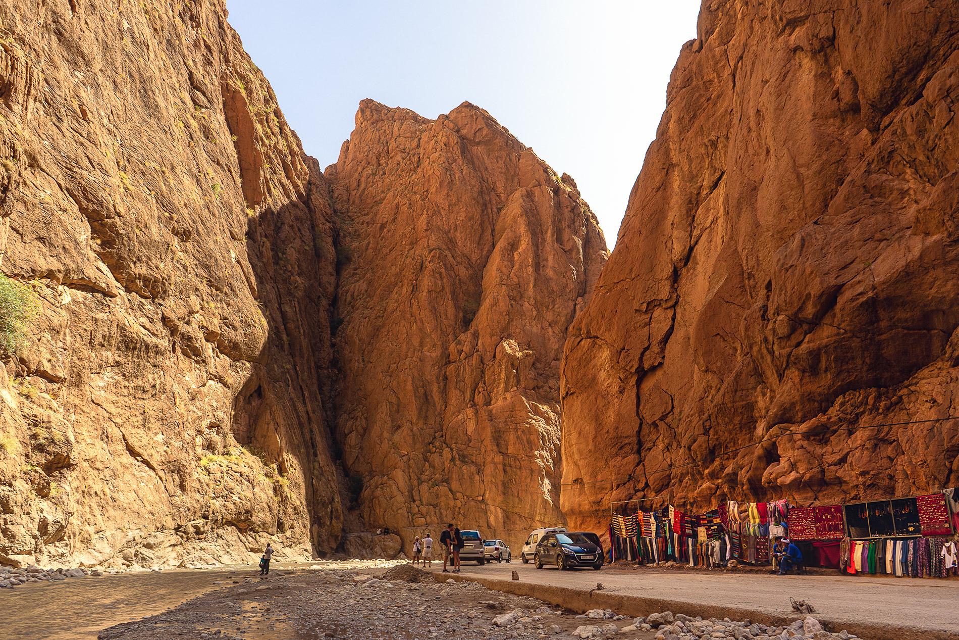 Gargantas du Todra, uma das principais atrações em Marrocos