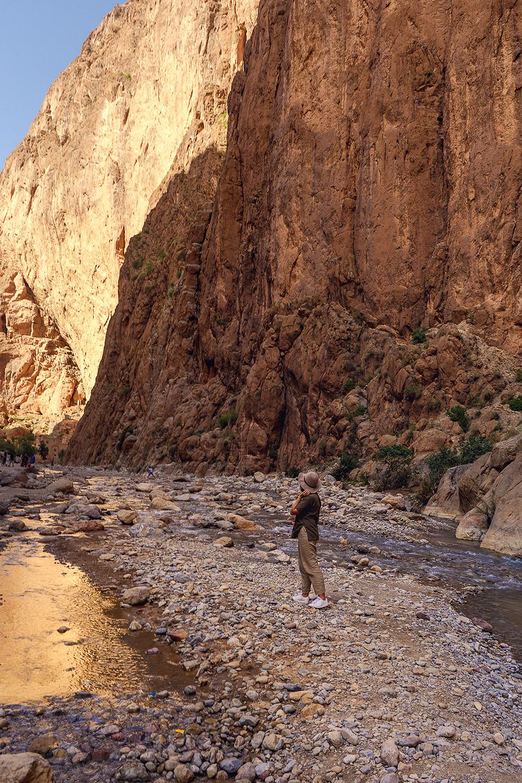 Gorges du Todra em Marrocos, perto do deserto
