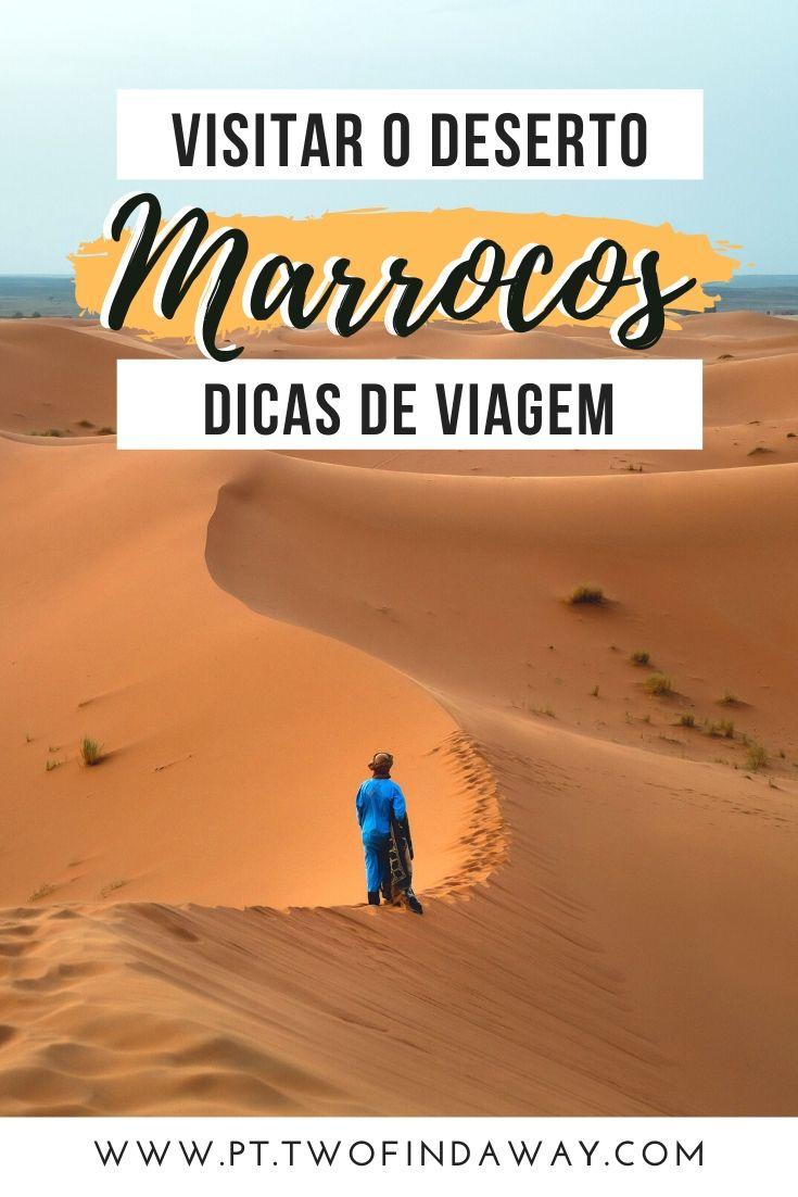 Um guia completo para quem está a planear uma viagem ao deserto em Marrocos. O deserto do Saara é o sonho de qualquer viajante, com a sua areia fina e dunas sem fim. Passar a noite no deserto é uma experiência inesquecível. Como Visitar o Deserto em Marrocos I Roteiro em Marrocos I Onde ir em Marrocos I O Que Fazer em Marrocos I Tour de Marraquexe I Excursão ao Deserto I Turismo de Marrocos #marrocos #desertosaara