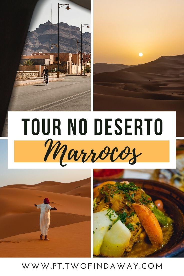 Visitar o deserto em Marrocos é um sonho para muitos viajantes, simples de concretizar com esta tour de Marraquexe até ao deserto. Este guia de viagem completo sobre o deserto em Marrocos está recheado de informação útil para a sua viagem a Marrocos. O Que Fazer em Marrocos I Deserto do Saara em Marrocos I Noite no Deserto I Turismo em Marrocos I Roteiro Marrocos #marrocos #deserto