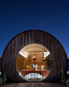 Noite estrelada numa das pipas da Quinta da Pacheca no Vale do Douro