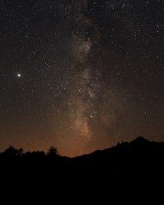 Noite estrelada em Castro Laboreiro