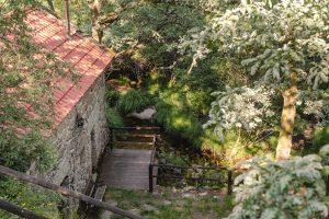 Uma das casas e vegetação dos Moinhos do Poço Verde