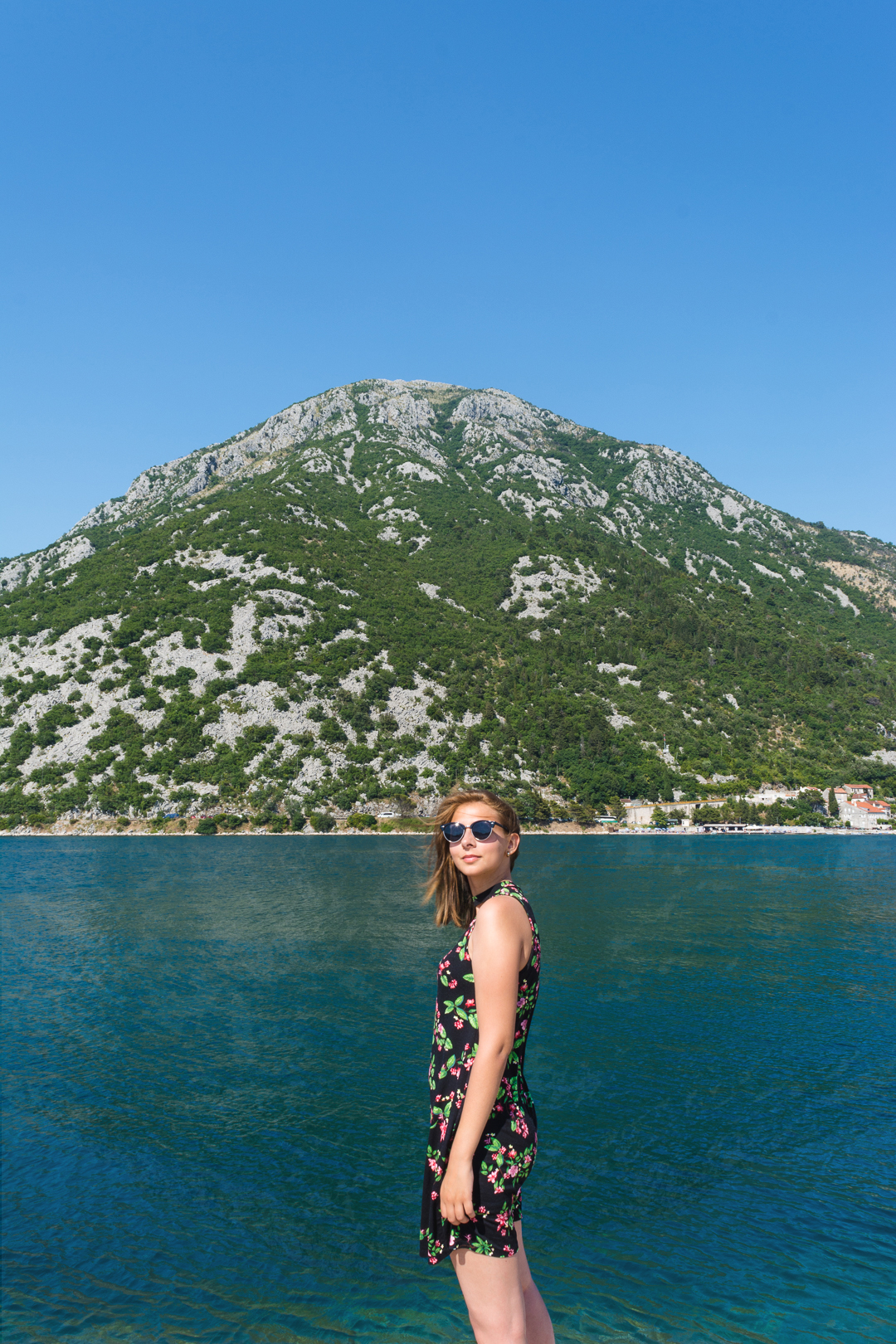 Maria by the sea at Our Lady of the Rocks near Perast in Montenegro